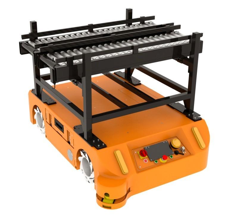 Adapter zautomatycznymi rolkami dorobota FlatRunner MW