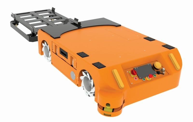 Wózek transportowy zkołami skrętnymi dla robota FlatRunner MW