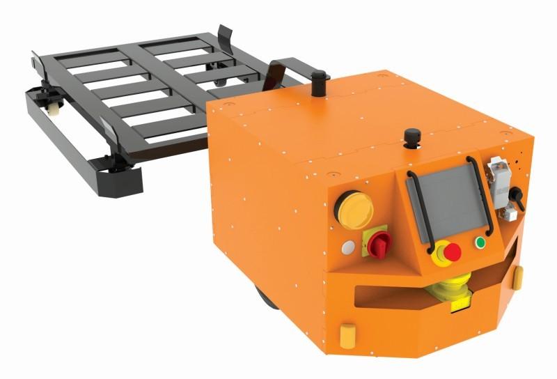 Wózek zkołami skrętnymi dorobota CubeRunner